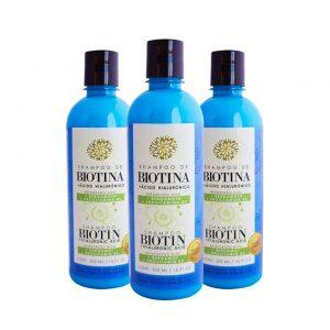 Kit 3 Shampoos de Biotina