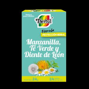 Té Manzanilla, Té Verde y Diente de León Therbal c/24 Sobres